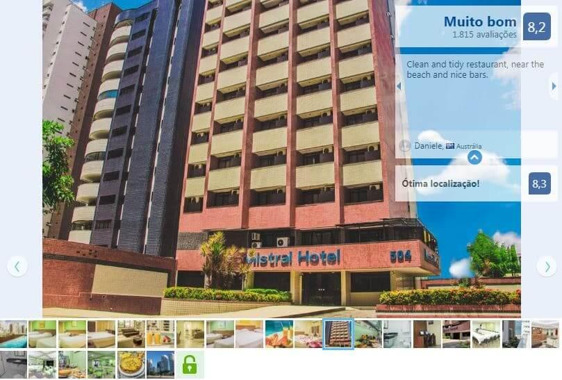 Hotéis no centro turístico em Fortaleza: Adaba Mistral