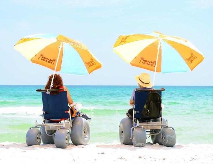 Deficientes físicos em Fortaleza: Praia