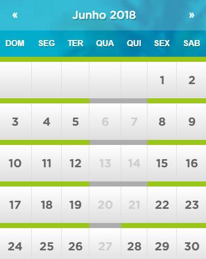 Calendário de funcionamento do Beach Park em Fortaleza: Junho