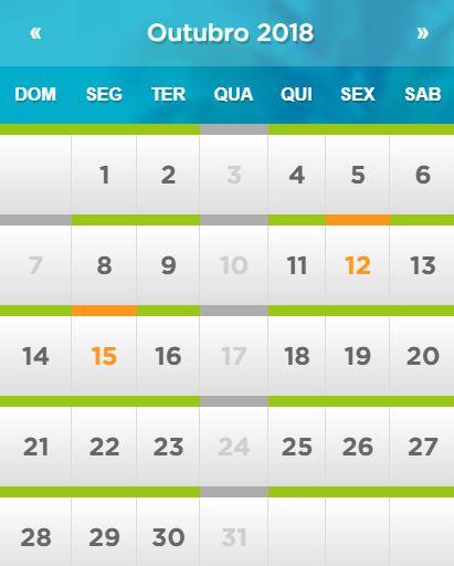 Calendário de funcionamento do Beach Park em Fortaleza: Outubro