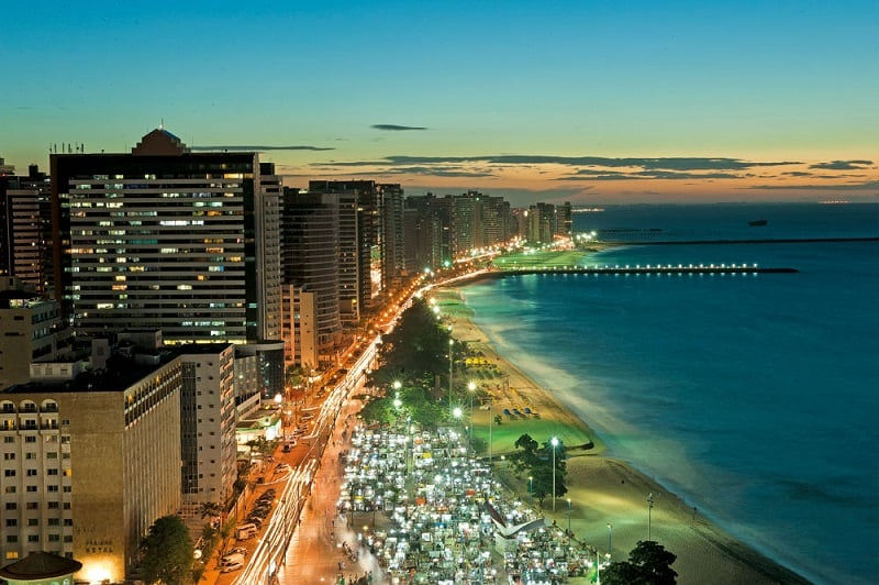 Clima e temperatura em Fortaleza: Entardecer
