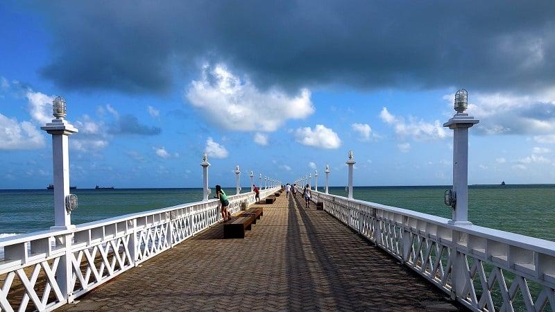Praia de Iracema em Fortaleza: Ponte dos Ingleses