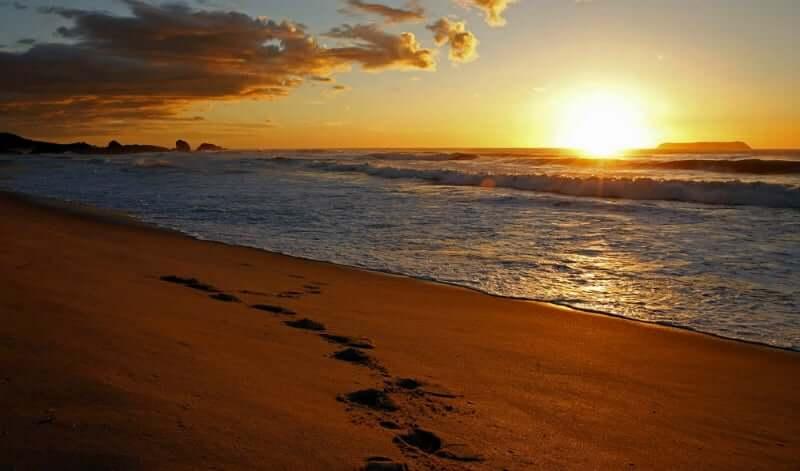 Praia Mole em Florianópolis: Pôr do sol