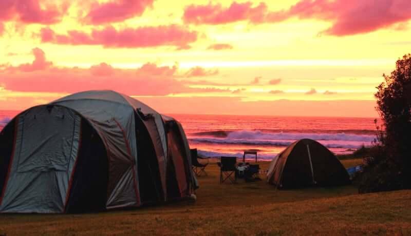Praia da Lagoinha do Leste em Florianópolis: Camping