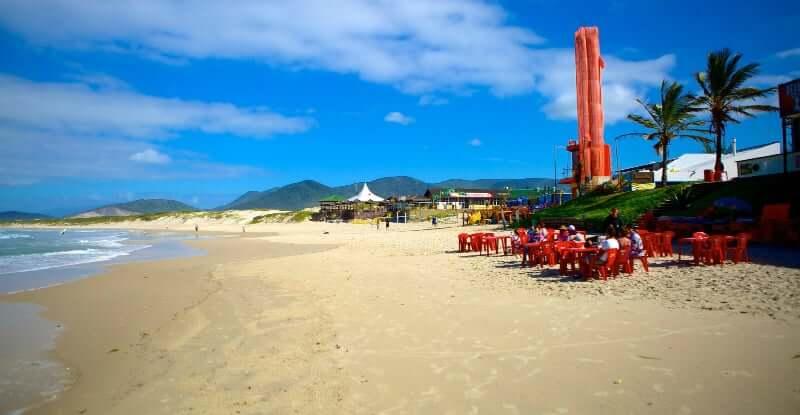 Praia da Joaquina em Florianópolis: Quiosques