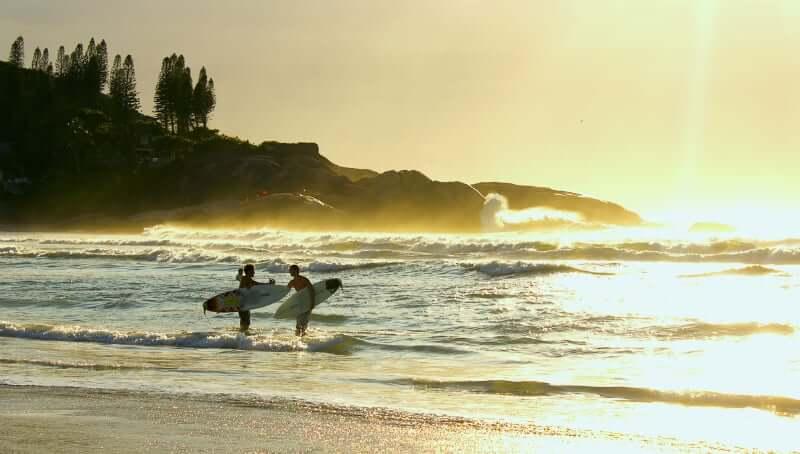 Praia da Joaquina em Florianópolis: Surf