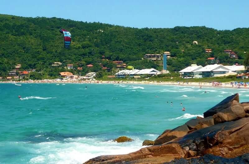 Praia da Lagoinha de Ponta das Canas em Florianópolis: Vista da Praia