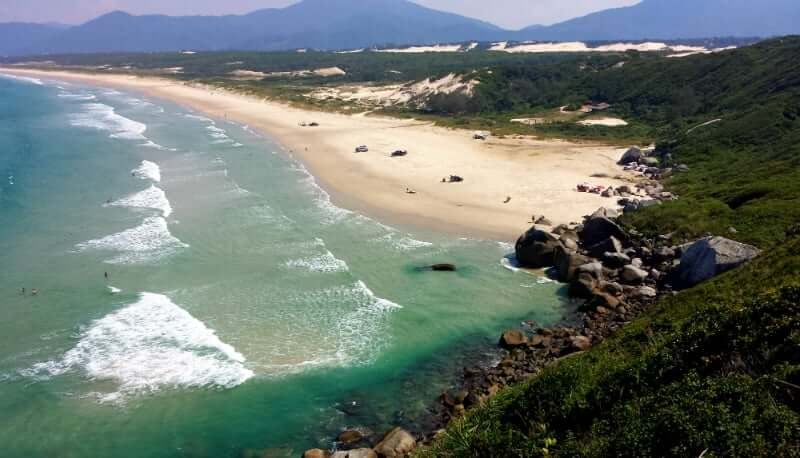 Praias do leste de Florianópolis: Praia de Moçambique