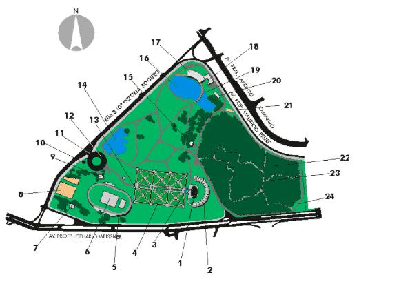 Jardim Botânico em Curitiba: Mapa