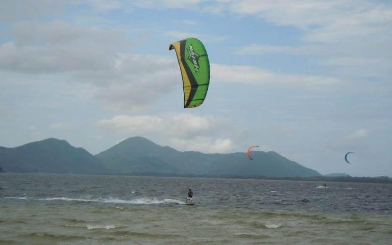 Costa da Lagoa em Florianópolis: Kitesurf