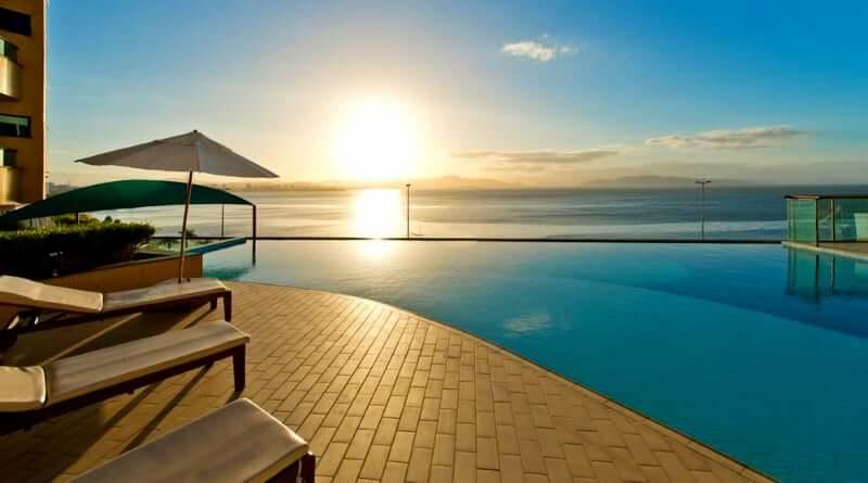 Hotéis no centro de Florianópolis; Piscina do Majestic Palace Hotel