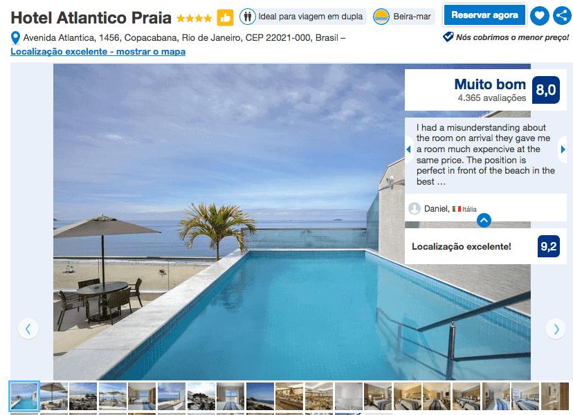 Hotel Atlantico Praia no Rio de Janeiro