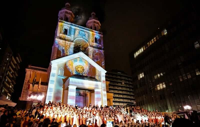 Natal em Florianópolis: Apresentação do coral na Catedral