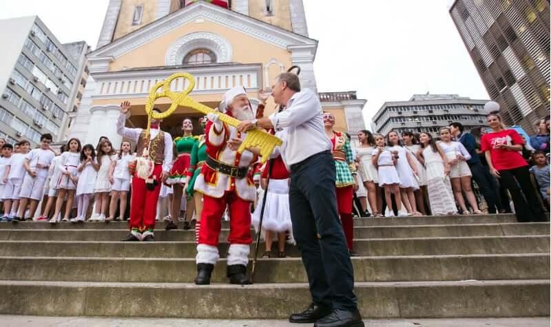 Natal em Florianópolis: Festa natalina de abertura