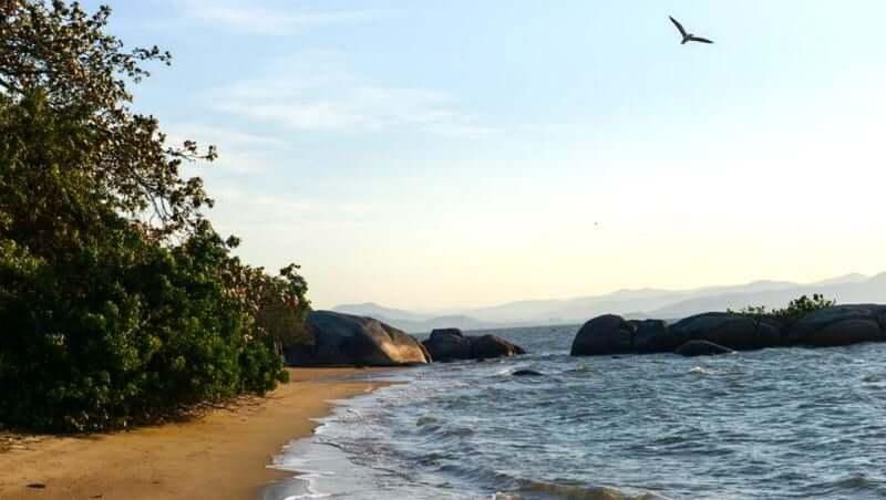 Praias do norte de Florianópolis: Praia de Cacupé