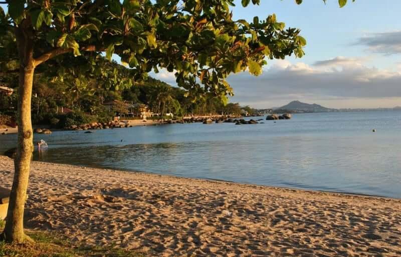 Praias do norte de Florianópolis: Praia de Sambaqui