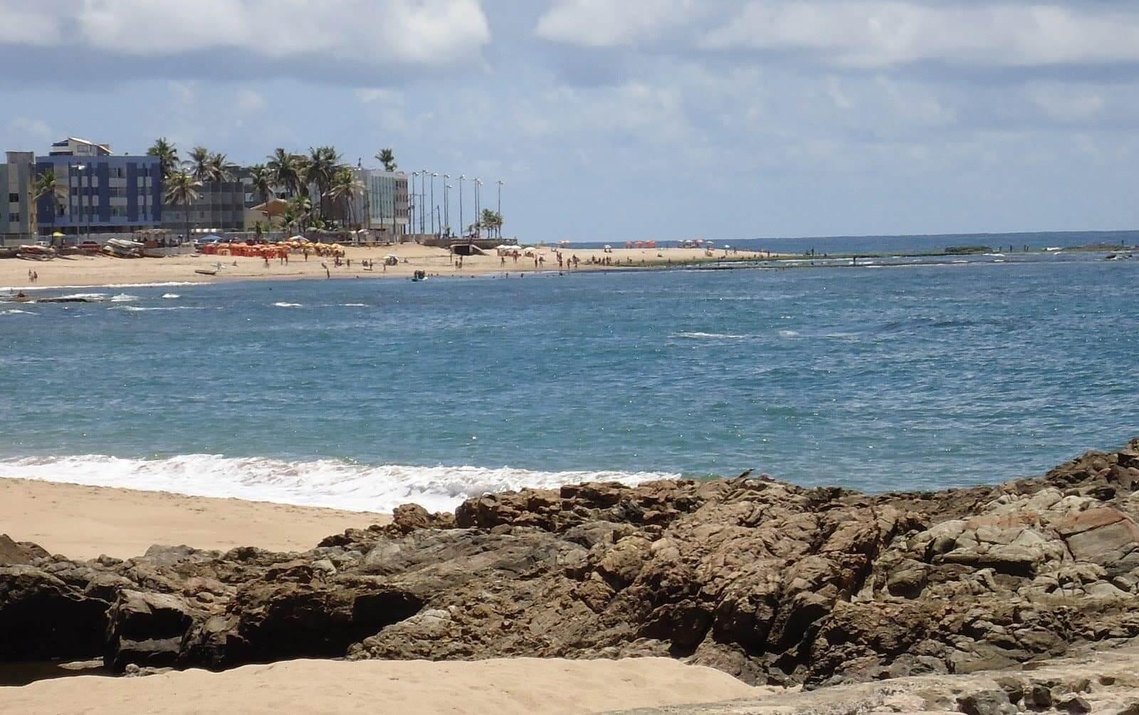 Praia de Amaralina em Salvador: Vista da praia
