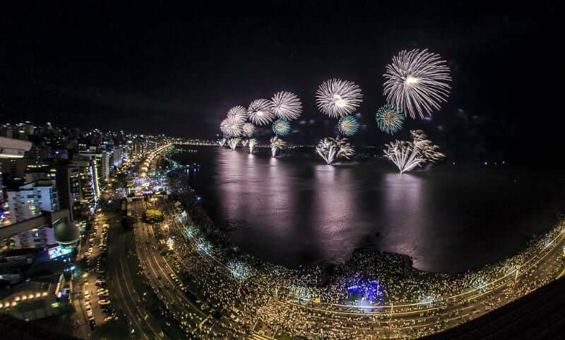 Réveillon em Florianópolis: Comemoração na Avenida Beira-Mar Norte