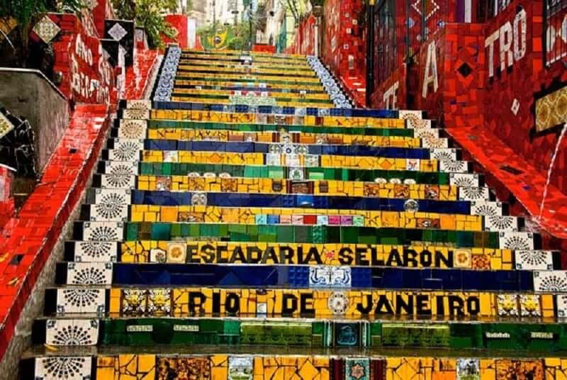 Escadaria Selaron no Rio de Janeiro