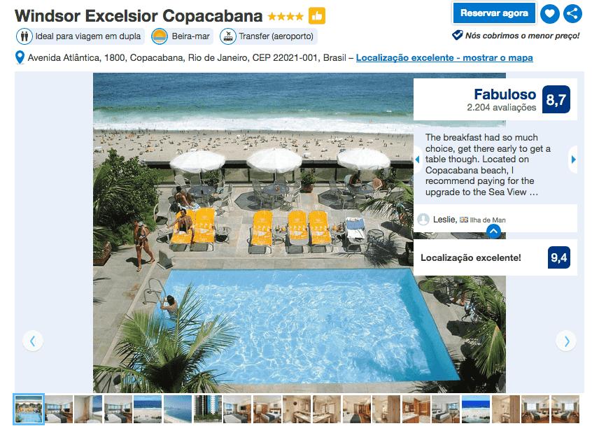 Hotel Windsor Excelsior no Rio de Janeiro