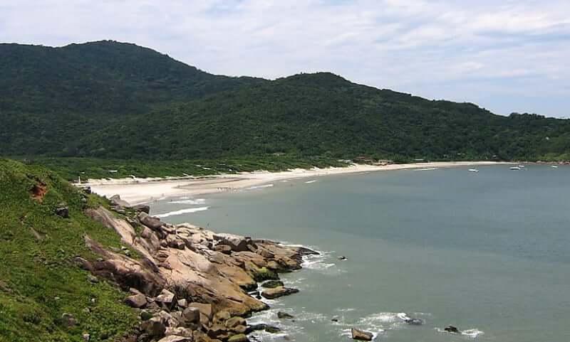 Mapa Turístico de Florianópolis: Praia de Naufragados