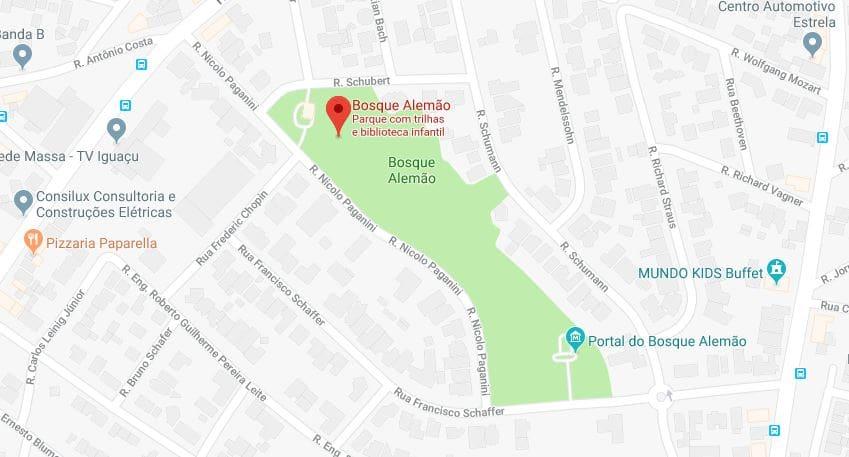Bosque Alemão em Curitiba: Como chegar