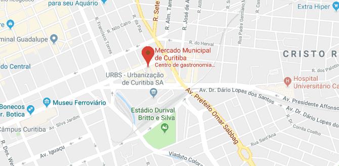 Mercado Municipal de Curitiba: Mapa