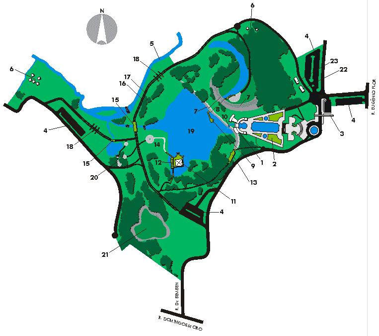 Parque Tanguá em Curitiba: Mapa