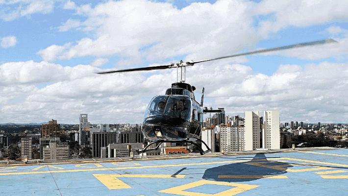 Parque Barigui em Curitiba: Helicóptero