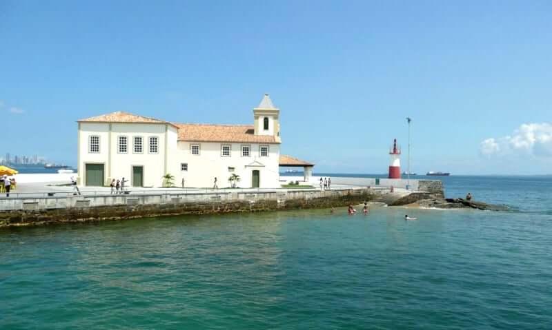 Mapa turístico de Salvador: Igreja e Forte de Nossa Senhora de Monte Serrat