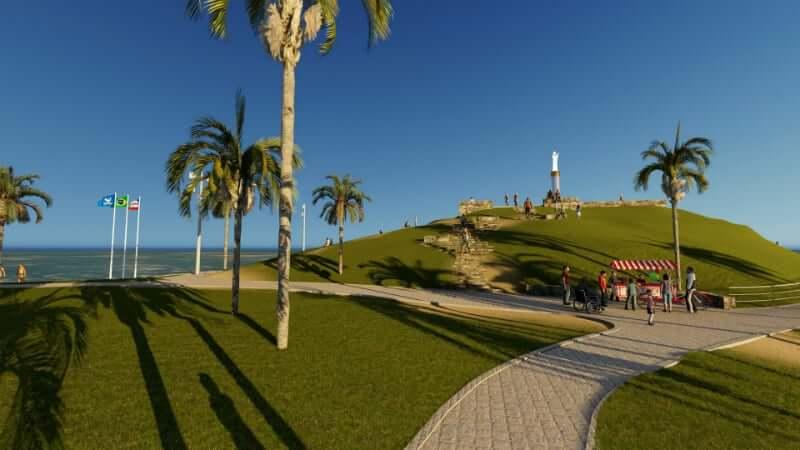 Mapa turístico de Salvador: Morro do Cristo