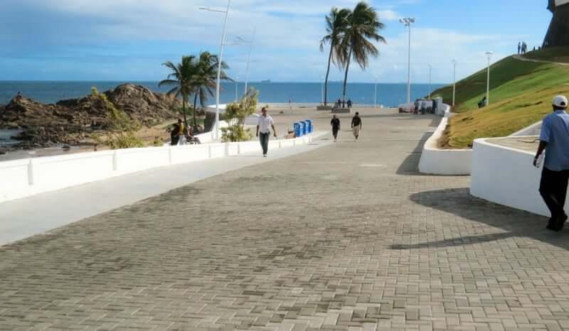 Mapa turístico de Salvador: Orla da Barra