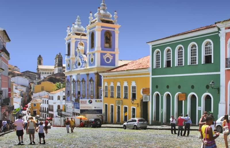Mapa turístico de Salvador: Pelourinho
