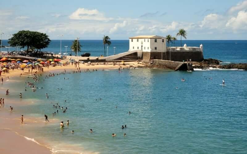 Mapa turístico de Salvador: Praia do Porto da Barra