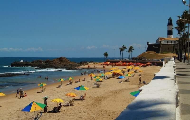 Praia do Farol da Barra em Salvador: Praia