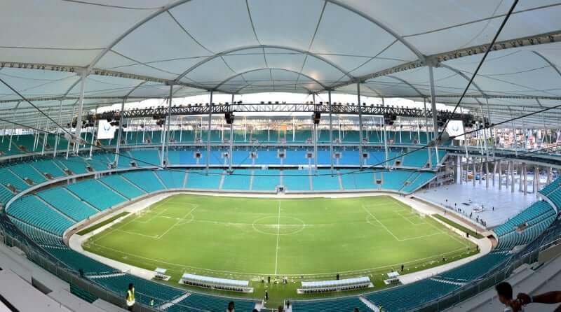 Arena Fonte Nova em Salvador: Área interna