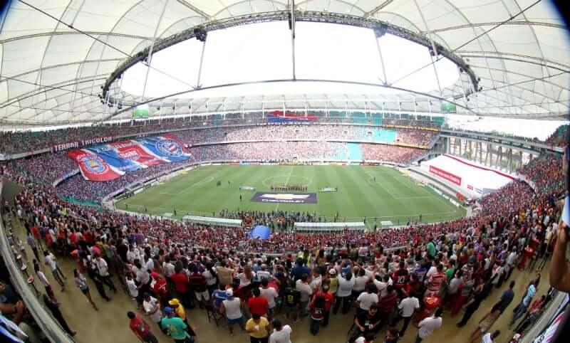 Arena Fonte Nova em Salvador: Jogo do Esporte Clube Bahia
