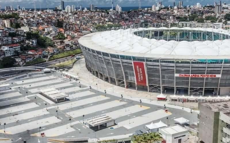 Arena Fonte Nova em Salvador: Estacionamento Descoberto