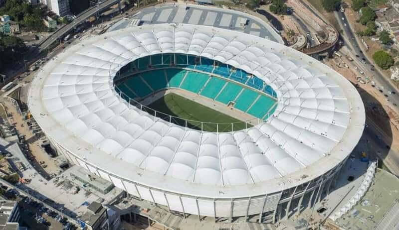 Arena Fonte Nova em Salvador: Vista aérea do estádio
