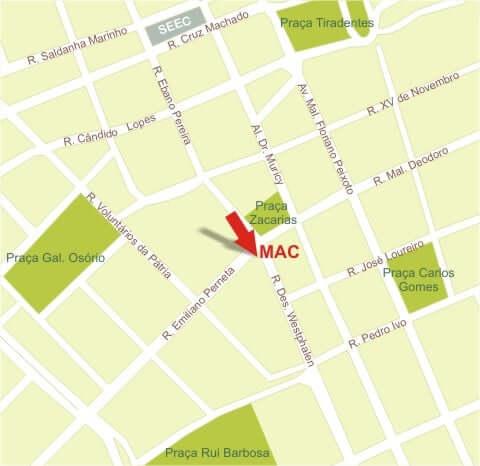 Museu de Arte Contemporânea em Curitiba: Mapa