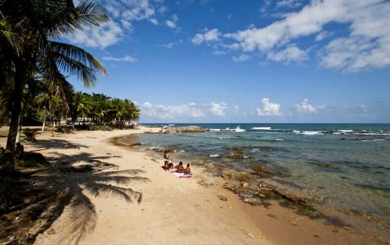 Praia de Itapuã em Salvador: Vista da praia