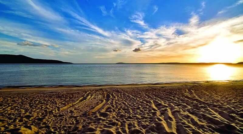 Praia de Itapuã em Salvador: Pôr do sol