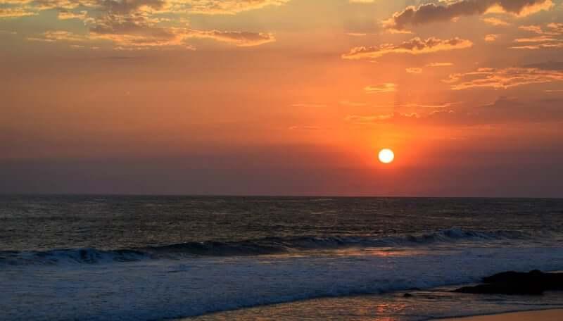 Praia de Jaguaribe em Salvador: Pôr do sol