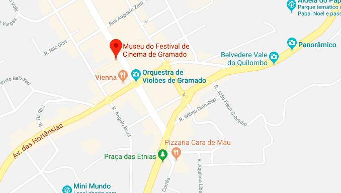 Museu do Festival de Cinema em Gramado: Mapa