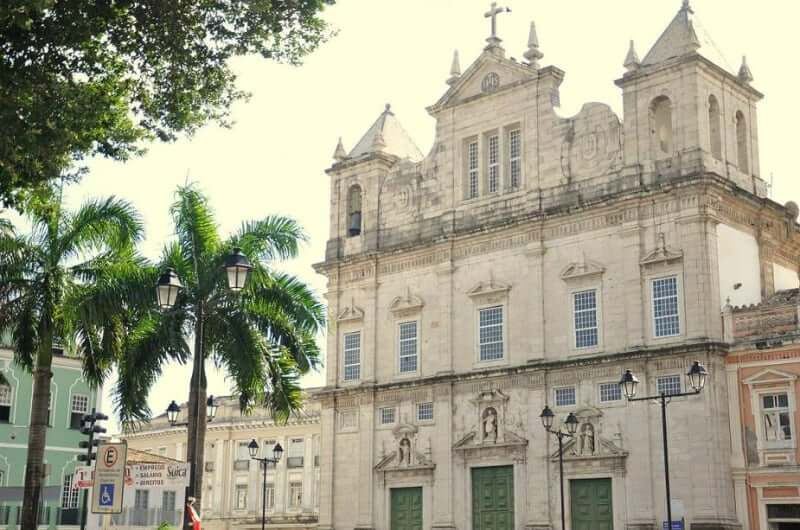 Catedral Basílica Primacial de São Salvador em Salvador: Fachada