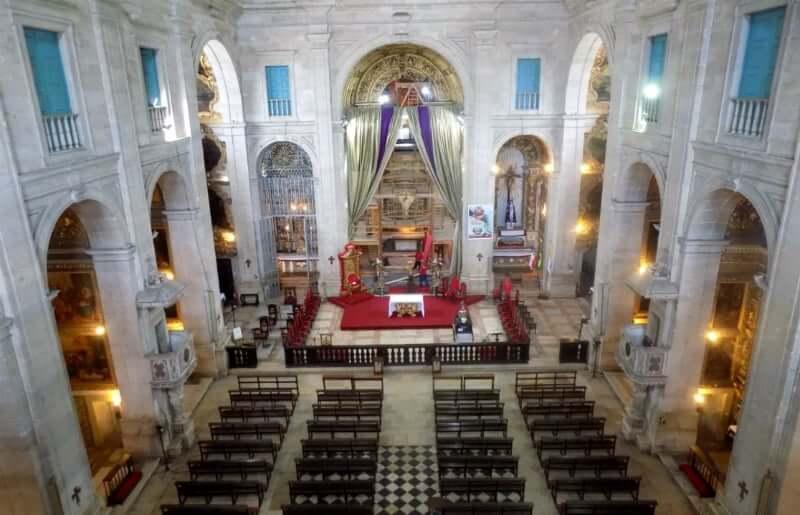 Catedral Basílica Primacial de São Salvador em Salvador: Interior da igreja