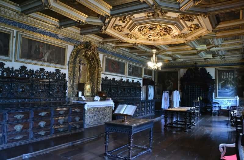 Igreja e Convento de São Francisco em Salvador: Sacristia