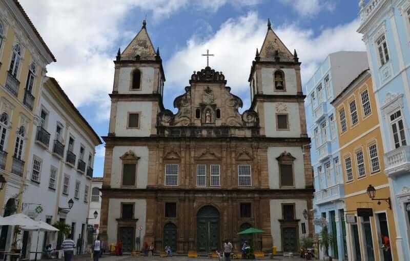 Igreja e Convento de São Francisco em Salvador: Fachada da igreja