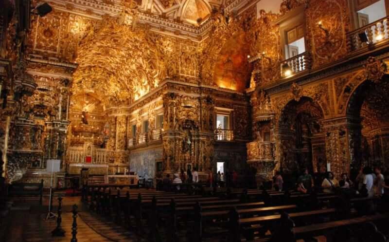 Igreja e Convento de São Francisco em Salvador: Interior da igreja