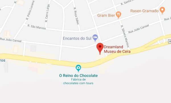 Museu de Cera em Gramado: Mapa